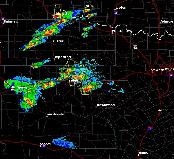 Radar Image for Severe Thunderstorms near Ranger, TX at 3/18/2020 6:01 PM CDT