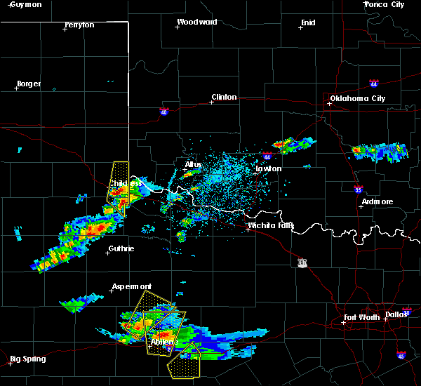 Radar Image for Severe Thunderstorms near Quanah, TX at 3/18/2020 6:02 PM CDT