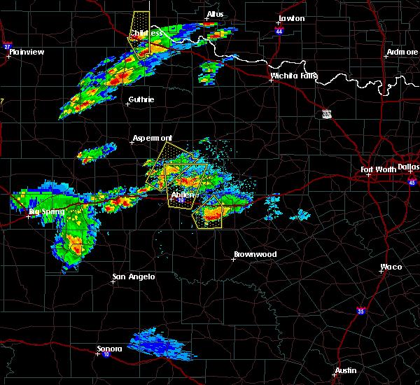 Radar Image for Severe Thunderstorms near Abilene, TX at 3/18/2020 6:04 PM CDT