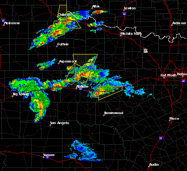 Radar Image for Severe Thunderstorms near Stamford, TX at 3/18/2020 6:24 PM CDT