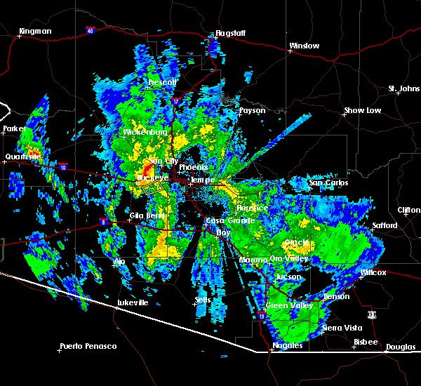 Radar Image for Severe Thunderstorms near Goodyear, AZ at 3/18/2020 4:29 PM MST