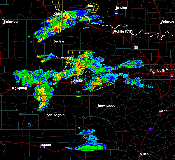 Radar Image for Severe Thunderstorms near Stamford, TX at 3/18/2020 6:42 PM CDT