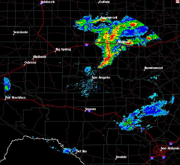 Radar Image for Severe Thunderstorms near Ballinger, TX at 3/18/2020 7:29 PM CDT