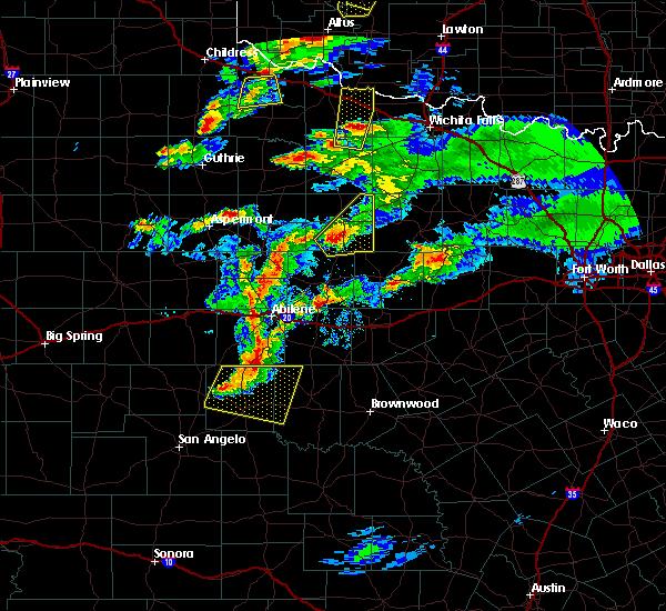 Radar Image for Severe Thunderstorms near Elbert, TX at 3/18/2020 7:40 PM CDT