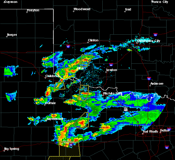Radar Image for Severe Thunderstorms near Electra, TX at 3/18/2020 7:48 PM CDT