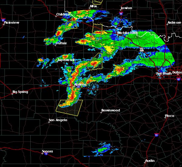 Radar Image for Severe Thunderstorms near Elbert, TX at 3/18/2020 7:48 PM CDT
