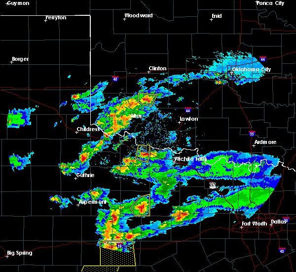Radar Image for Severe Thunderstorms near Gotebo, OK at 3/18/2020 7:53 PM CDT