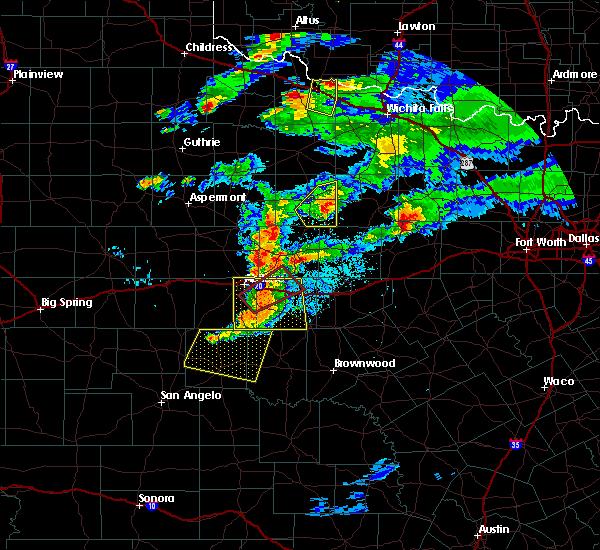 Radar Image for Severe Thunderstorms near Elbert, TX at 3/18/2020 8:04 PM CDT