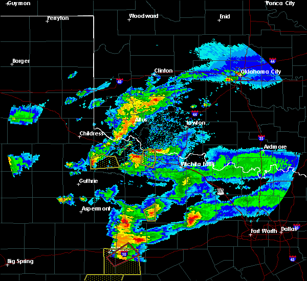 Radar Image for Severe Thunderstorms near Electra, TX at 3/18/2020 8:13 PM CDT