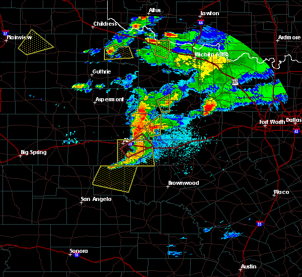 Radar Image for Severe Thunderstorms near Baird, TX at 3/18/2020 8:21 PM CDT