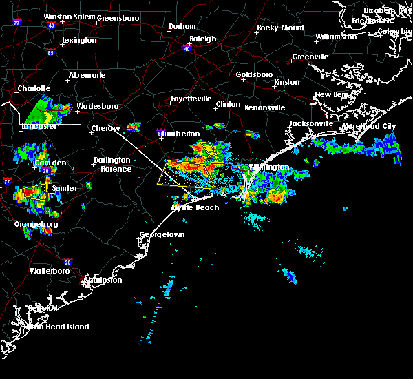 Radar Image for Severe Thunderstorms near Cerro Gordo, NC at 6/24/2015 9:14 PM EDT