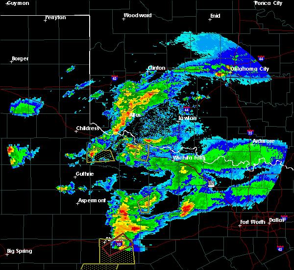 Radar Image for Severe Thunderstorms near Altus, OK at 3/18/2020 8:23 PM CDT
