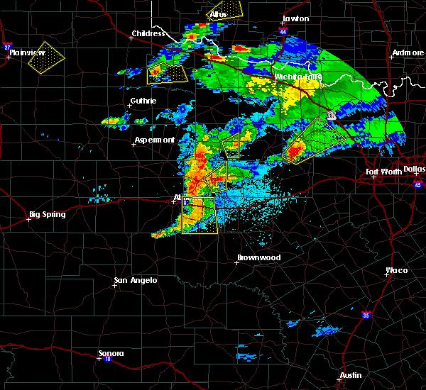 Radar Image for Severe Thunderstorms near Breckenridge, TX at 3/18/2020 8:27 PM CDT