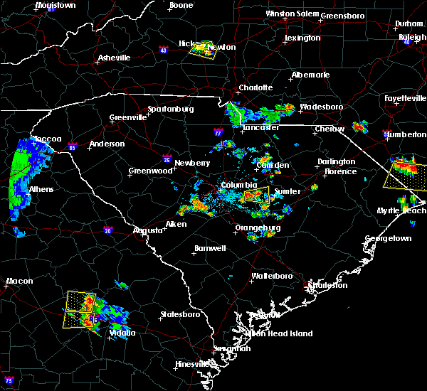 Radar Image for Severe Thunderstorms near Dalzell, SC at 6/24/2015 9:14 PM EDT