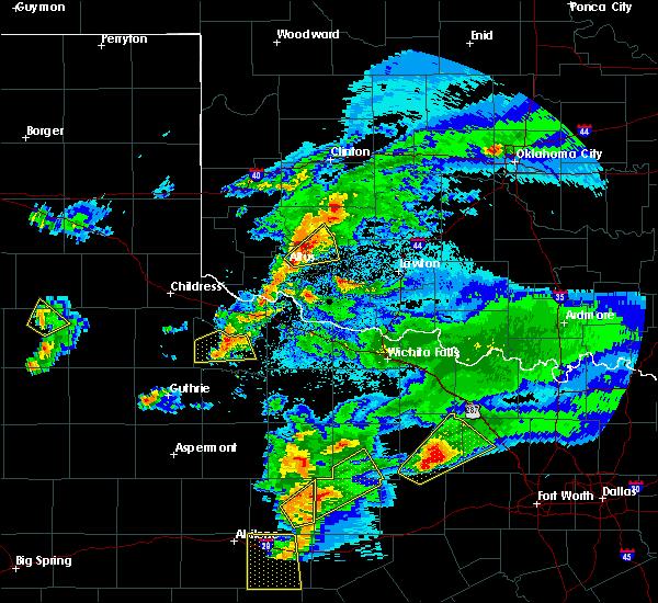 Radar Image for Severe Thunderstorms near Roosevelt, OK at 3/18/2020 8:36 PM CDT