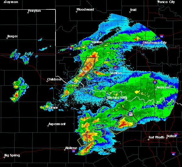 Radar Image for Severe Thunderstorms near Roosevelt, OK at 3/18/2020 8:49 PM CDT
