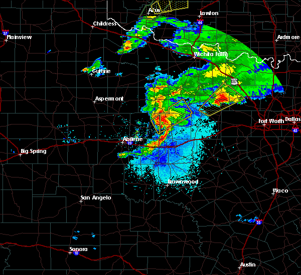 Radar Image for Severe Thunderstorms near Breckenridge, TX at 3/18/2020 8:49 PM CDT