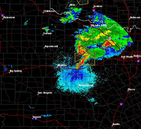Radar Image for Severe Thunderstorms near Mingus, TX at 3/18/2020 9:21 PM CDT