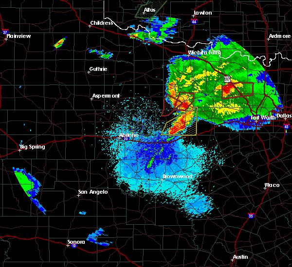 Radar Image for Severe Thunderstorms near Graham, TX at 3/18/2020 9:34 PM CDT