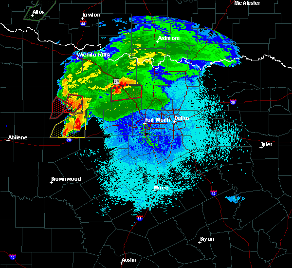 Radar Image for Severe Thunderstorms near Weatherford, TX at 3/18/2020 9:49 PM CDT
