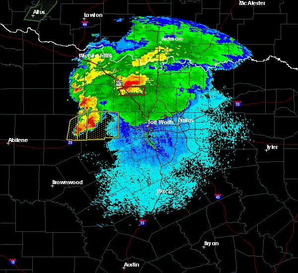 Radar Image for Severe Thunderstorms near Lindsay, TX at 3/18/2020 10:04 PM CDT