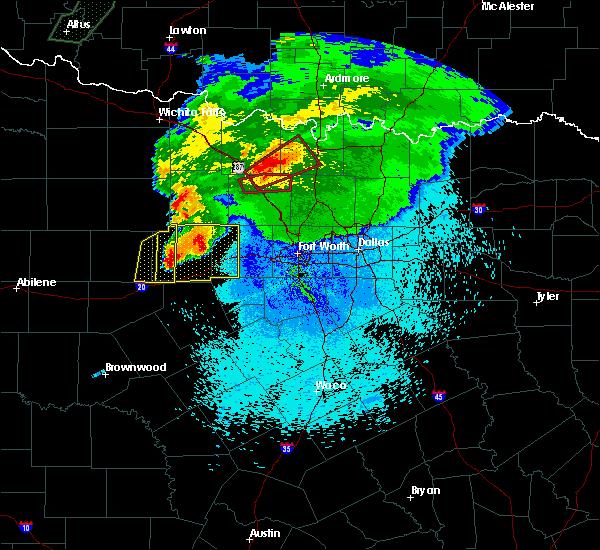 Radar Image for Severe Thunderstorms near Jacksboro, TX at 3/18/2020 10:23 PM CDT
