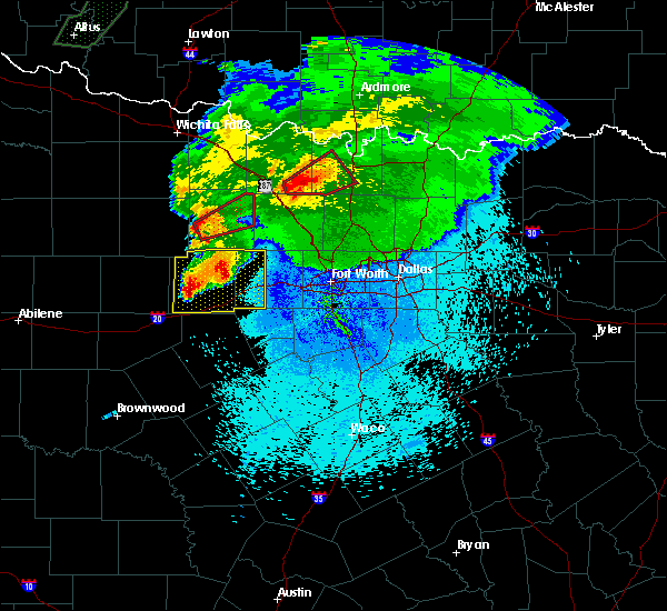 Radar Image for Severe Thunderstorms near Lindsay, TX at 3/18/2020 10:25 PM CDT