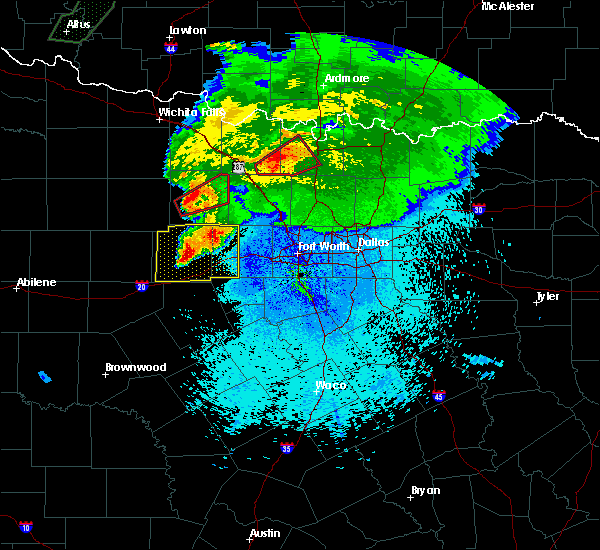 Radar Image for Severe Thunderstorms near Weatherford, TX at 3/18/2020 10:30 PM CDT