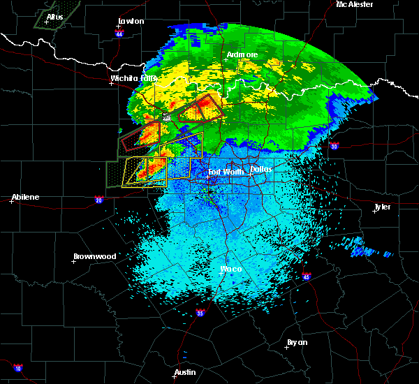 Radar Image for Severe Thunderstorms near Weatherford, TX at 3/18/2020 10:43 PM CDT