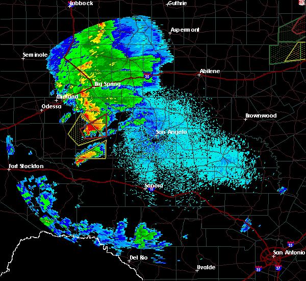 Radar Image for Severe Thunderstorms near Big Lake, TX at 3/18/2020 10:53 PM CDT