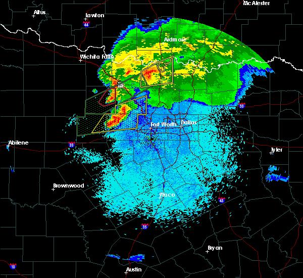 Radar Image for Severe Thunderstorms near Jacksboro, TX at 3/18/2020 10:58 PM CDT