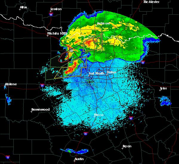 Radar Image for Severe Thunderstorms near Callisburg, TX at 3/18/2020 11:01 PM CDT