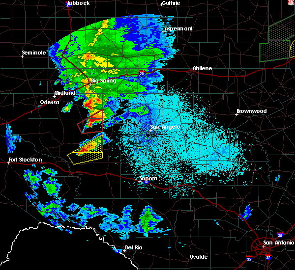 Radar Image for Severe Thunderstorms near Sterling City, TX at 3/18/2020 11:03 PM CDT