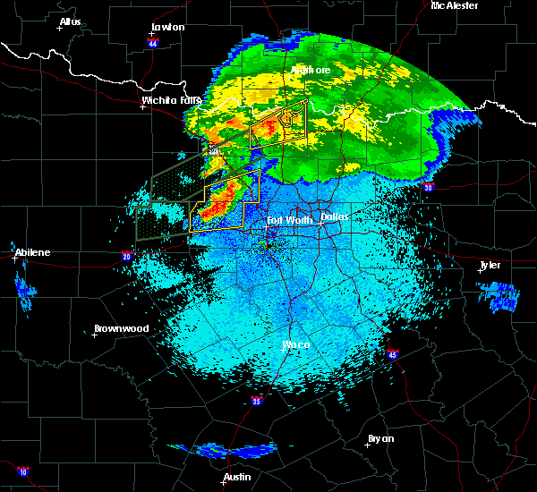 Radar Image for Severe Thunderstorms near Fort Worth, TX at 3/18/2020 11:16 PM CDT