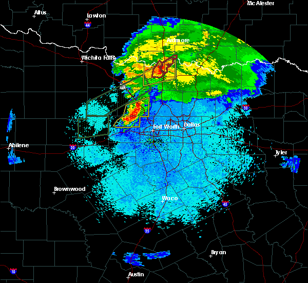 Radar Image for Severe Thunderstorms near Lindsay, TX at 3/18/2020 11:20 PM CDT