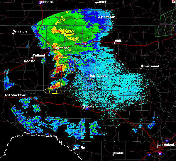 Radar Image for Severe Thunderstorms near Sterling City, TX at 3/18/2020 11:21 PM CDT