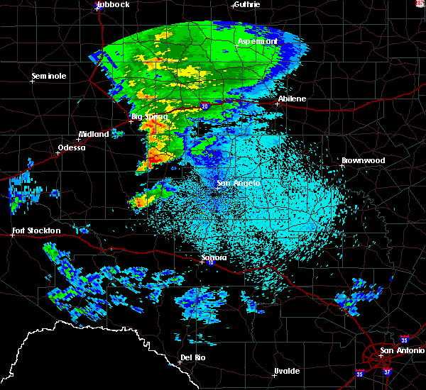 Radar Image for Severe Thunderstorms near Sterling City, TX at 3/18/2020 11:34 PM CDT