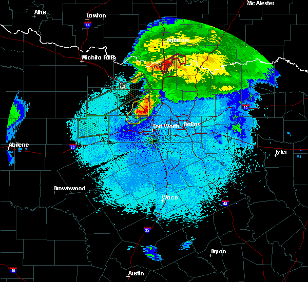 Radar Image for Severe Thunderstorms near Thackerville, OK at 3/18/2020 11:40 PM CDT