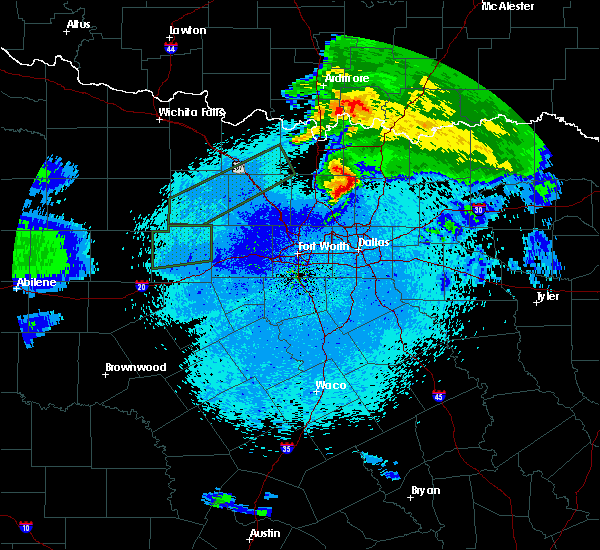 Radar Image for Severe Thunderstorms near Van Alstyne, TX at 3/19/2020 12:23 AM CDT
