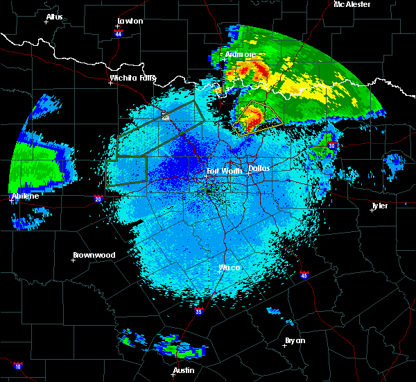 Radar Image for Severe Thunderstorms near Van Alstyne, TX at 3/19/2020 12:39 AM CDT