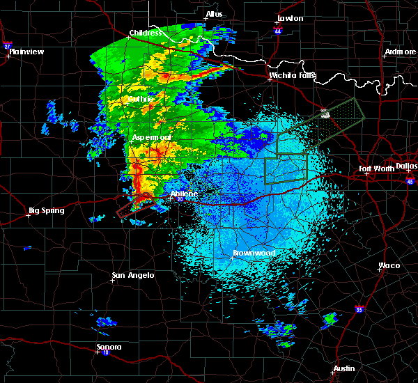 Radar Image for Severe Thunderstorms near Hawley, TX at 3/19/2020 1:20 AM CDT