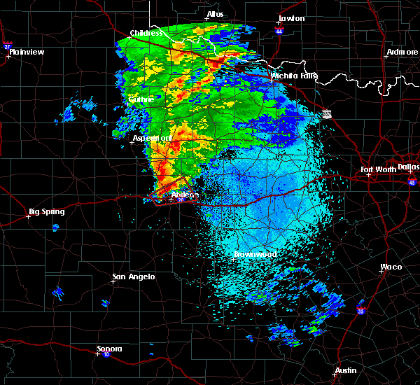 Radar Image for Severe Thunderstorms near Hawley, TX at 3/19/2020 1:39 AM CDT