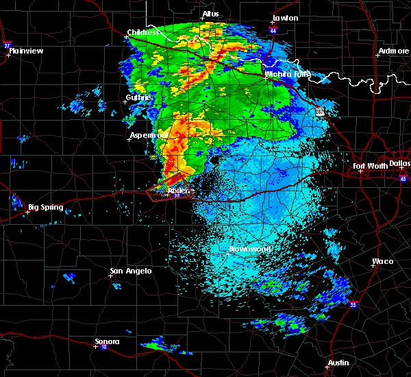 Radar Image for Severe Thunderstorms near Abilene, TX at 3/19/2020 1:48 AM CDT