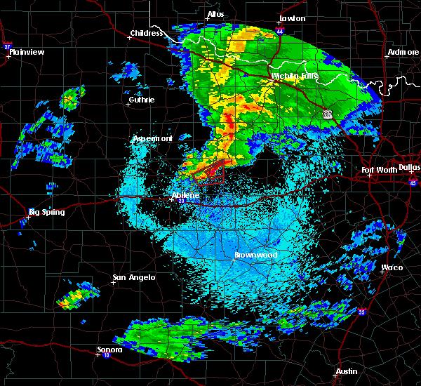 Radar Image for Severe Thunderstorms near Graham, TX at 3/19/2020 2:32 AM CDT