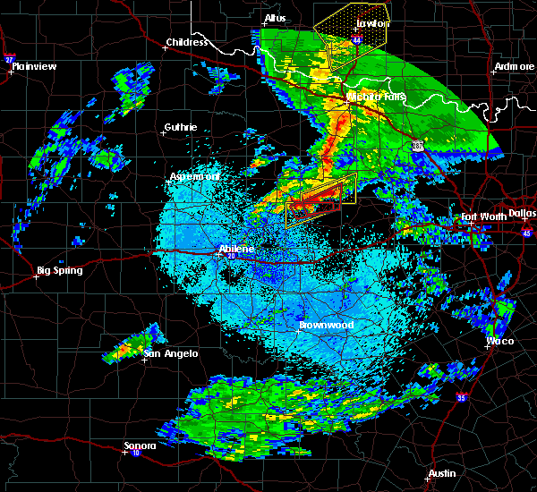 Radar Image for Severe Thunderstorms near Graham, TX at 3/19/2020 2:57 AM CDT