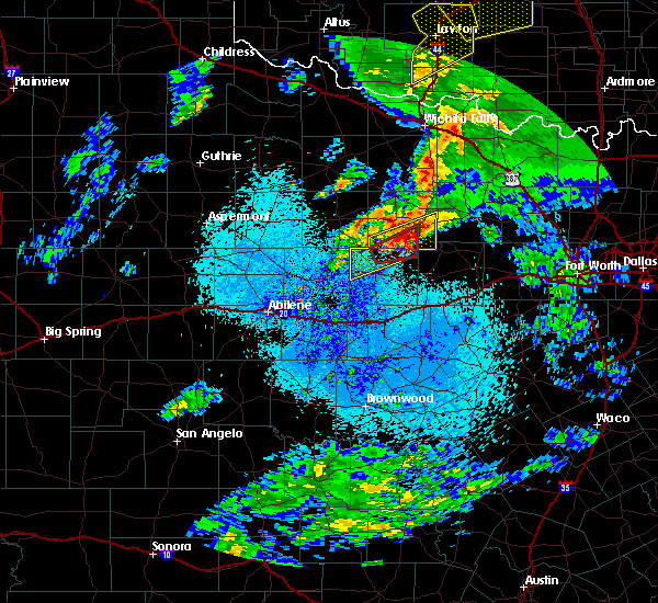 Radar Image for Severe Thunderstorms near Graham, TX at 3/19/2020 3:15 AM CDT