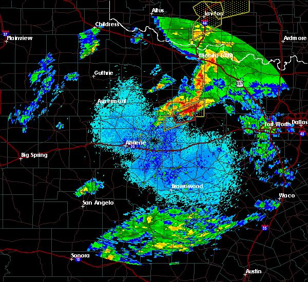 Radar Image for Severe Thunderstorms near Graham, TX at 3/19/2020 3:16 AM CDT