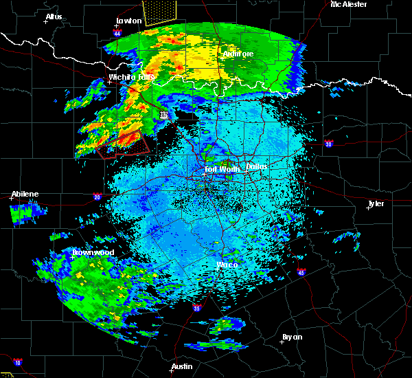 Radar Image for Severe Thunderstorms near Bryson, TX at 3/19/2020 3:43 AM CDT