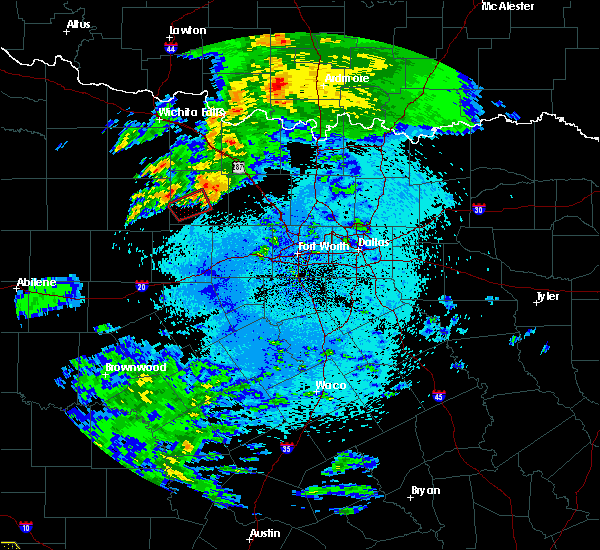 Radar Image for Severe Thunderstorms near Bryson, TX at 3/19/2020 3:55 AM CDT