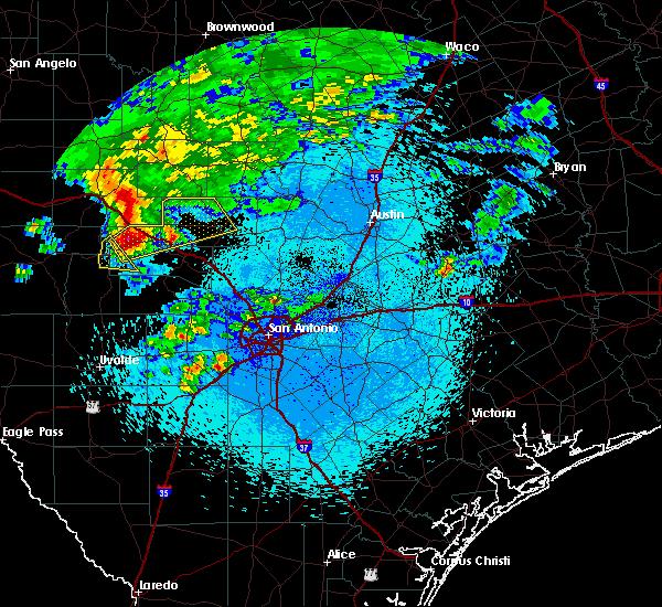Radar Image for Severe Thunderstorms near Fredericksburg, TX at 3/19/2020 4:16 AM CDT